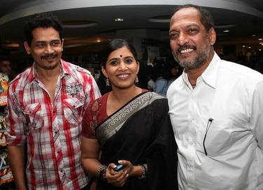 Atul Kulkarni, Sonali Kulkari and Nana Patekar at the launch ceremony for the book &quot;So Kul.&quot;